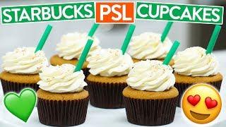 HOW TO MAKE STARBUCKS PSL CUPCAKES (Pumpkin Spice Latte)