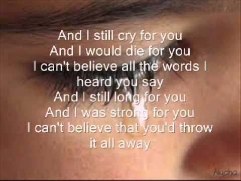 if i cry a thousand tears lyrics