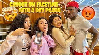 CAUGHT THE GIRLS ON FACETIME WITH A BOY! *WHILE ON PUNISHMENT*