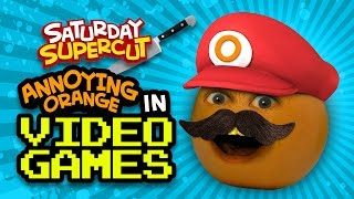 Annoying Orange in Video Games (Saturday Supercut)