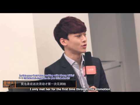 [Eng Sub] 140305 土豆音乐 Tudou Interview (Zhoumi, EXO Chen & Zhang Liyin)