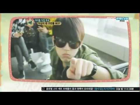 120218 - Woohyun (Infinite) - #3. Best Fan Service Idol @ MBC Weekly Idol