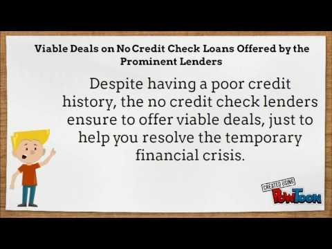 No Credit Check Loan Lenders In The UK