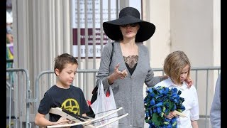 Angelina Jolie se lleva a sus peques al mercadillo Rosebowl   DIEZ MINUTOS