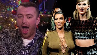 Sam Smith FORCED to Choose Between Kim Kardashian & Taylor Swift on 'Plead the Fifth'