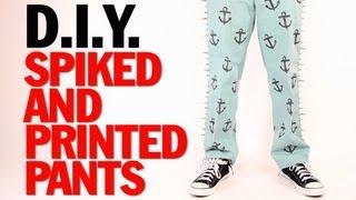 Spiked and Printed Pants - Thom Browne Runway Inspired - Threadbanger