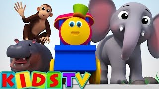 Alphabets animals video | ABC Song For Kids And Children | animals phonics song | bob the train
