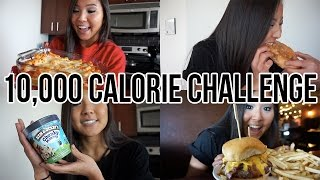 10,000 CALORIE CHALLENGE | GIRL VS.  FOOD