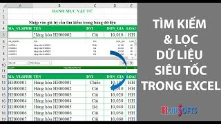 Hướng dẫn tìm kiếm và lọc dữ liệu siêu tốc trong bảng tính Excel bằng Add-In A-Tool