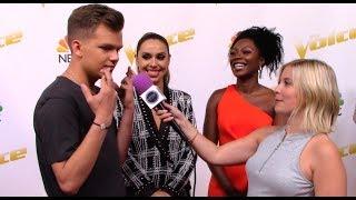 Britton Buchanan, Christiana Danielle, Jackie Foster   Team Alicia Keys   The Voice Red Carpet Sean