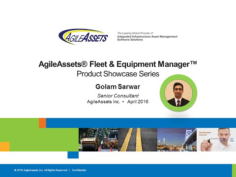 AgileAssets Fleet & Equipment Manager - Product Showcase Series 20160405 1630 1
