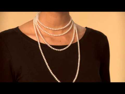 "How to Wear Your 80"" Pearl Endless Necklace"