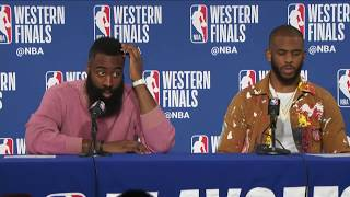 James Harden & Chris Paul Postgame Interview | Rockets vs Warriors Game 3
