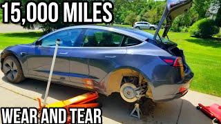 I found 15 Pounds of Dirt in my Tesla Model 3 | Shocks | Tires | Brakes After Dirt Road Driving