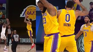 Kyle Kuzma for the win vs. the Nuggets! LAKERS vs NUGGETS