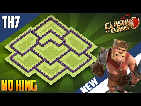 Clash Of Clans Best Th7 War Base Without Barbarian King Anti