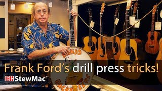 Watch the Trade Secrets Video, Frank Ford's drill press tricks!