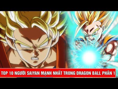 Top 10 người Saiyan mạnh nhất trong bộ truyện Dragon Ball Phần 1