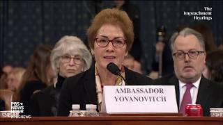 La embajadora Yovanovitch dice que los ataques de Trump en Twitter son «muy intimidantes»