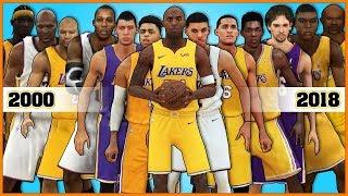 LOS ANGELES LAKERS evolution [NBA 2K - NBA 2K18]