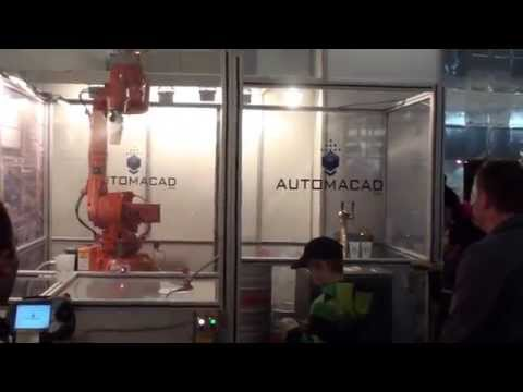 Automacad's beer serving robot at Bauma 2013