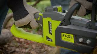 "Video: 40V 14"" Brushless Chain Saw with 1.5Ah Battery & Charger"