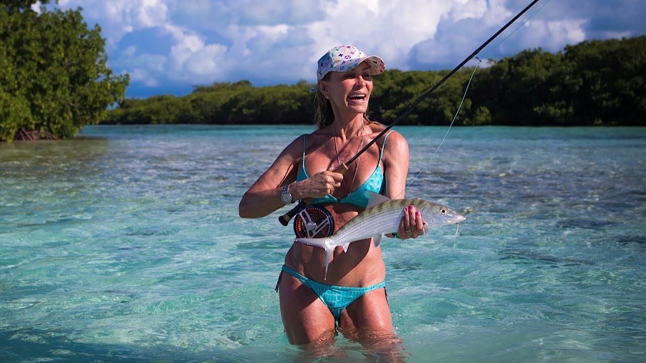 bikini Pics of ladies fishing in