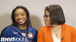 Simone Biles Gets Interviewed By Her Mom
