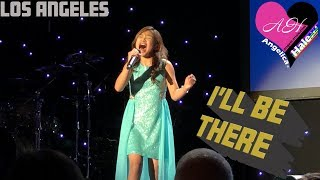 """Angelica Hale Sings """"I'll Be There"""" for Paul Mitchell Schools Funraising 2018 - Beverly Hills, CA"""