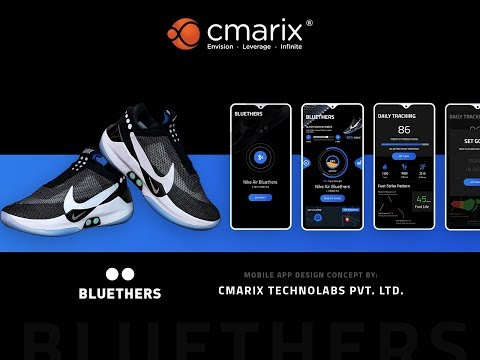 Nike Adapt BB Self-Lacing Shoes - Mobile App Concept By CMARIX Technolabs