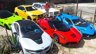 GTA 5 - Stealing Luxury Cars with Trevor! (Real Life Cars #03)