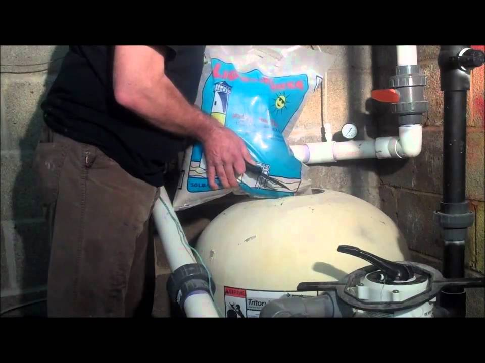 Poolcenter Com How To Change Pool Filter Sand Youtube