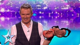 Simon left speechless by Jimmy Tamley's ventriloquist act | Semi-Finals | BGT 2019