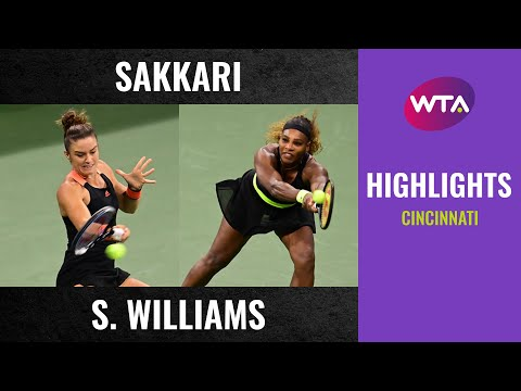 Maria Sakkari vs. Serena Williams | 2020 Cincinnati Third Round | WTA Highlights