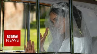 Royal wedding 2018: Glimpse of Meghan Markle's wedding gown - BBC News