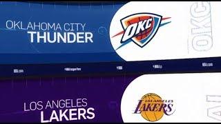 Oklahoma City Thunder vs LA Lakers Game Recap   1/2/19   NBA