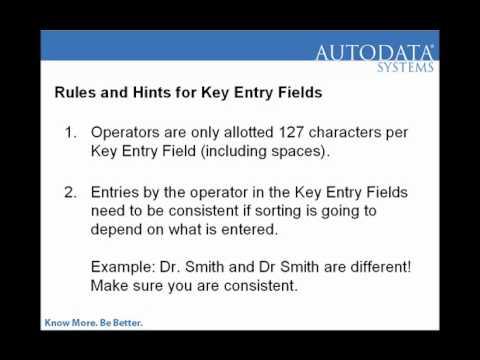 Creaitng A Key Entry Field In Scannable Office