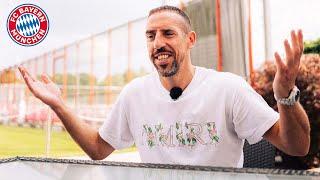 """Back at home"" - Franck Ribéry visits FC Bayern's training ground"