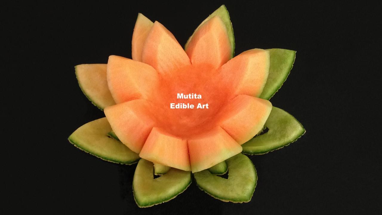 Beautiful Rockmelon Flower - Beginners Lesson 15 By Mutita ...