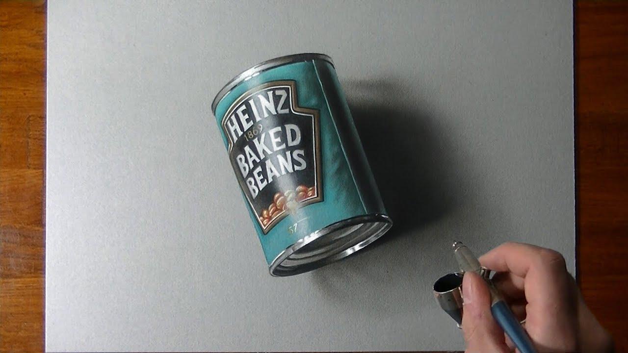 Comment dessiner une boite de haricots pleine ?