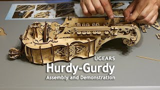 UGears Hurdy-Gurdy - Assembly and Demonstration