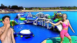 GOING TO THE WORLD'S BIGGEST INFLATABLE WATER PARK!!