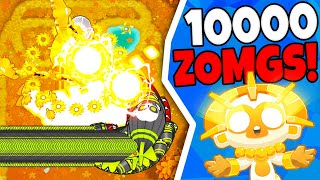 Bloons TD 6 | 10,000 ZOMGS VS Sun God Temple *NOT CLICKBAIT*
