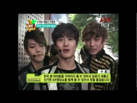 120605 ETN 연예스테이션 - EXO-K 신개념 이벤트! 게릴라 영상쇼