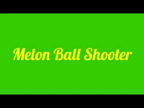 Melon Ball Shooter Recipe | Melon Ball Shot