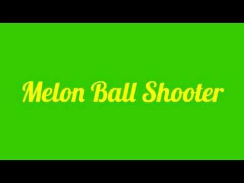 Melon Ball Shooter Recipe | Melon Ball Shot