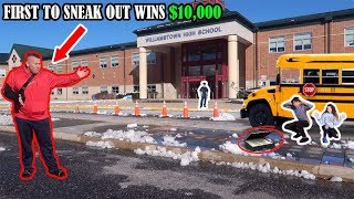 FIRST TO SNEAK OUT OF SCHOOL WINS $10,000! *We Got Caught*