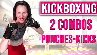 60 MIN WORKOUT |KICKBOXING  WORKOUT | 2 COMBOS PUNCHES-KICKS + 18 WEIGHT EXERCISES | ANGIEFITNESSTV