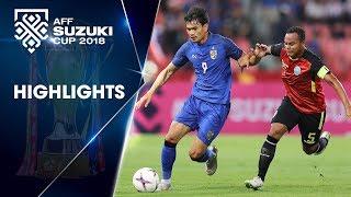ĐKVĐ Thái Lan trút cơn mưa bàn thắng vào lưới Timor Leste | VFF Channel