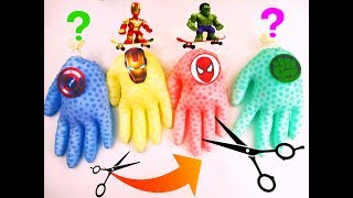 learn colors with superheroes and wrong heads heroes | funny toys for kids